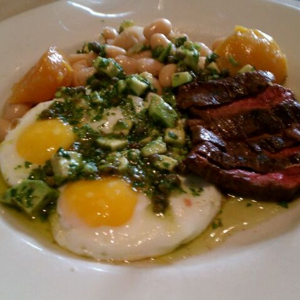 Eggs And Steak With Salsa Verde @ Bar Jules