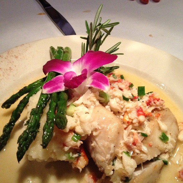 Rockfish With Crab And Lobster - Cobalt Grille, Virginia Beach, VA