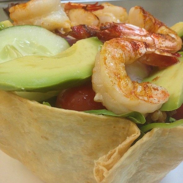 Avocado Shrimp Basket @ Valentino's Restaurant