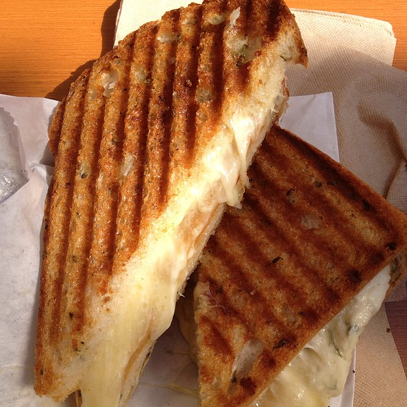 Three Cheese Grilled Cheese Sandwich