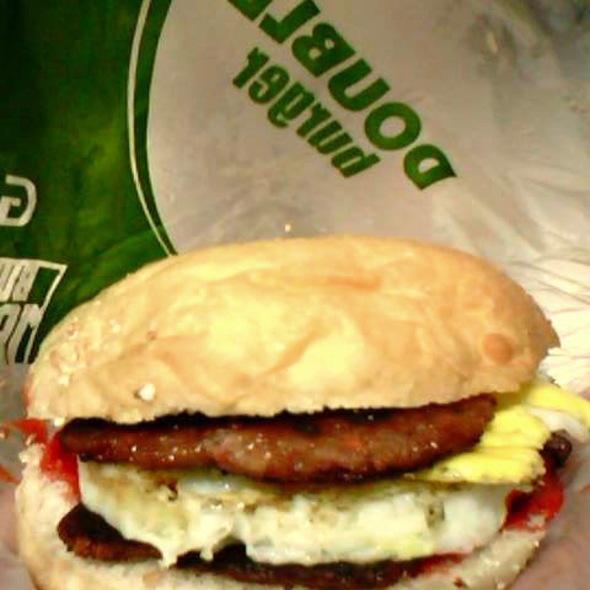 Double Longaniza Burger @ Burger Machine