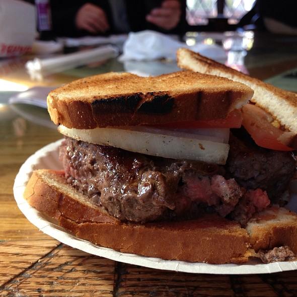 Cheese Works Original Burger @ Louis' Lunch