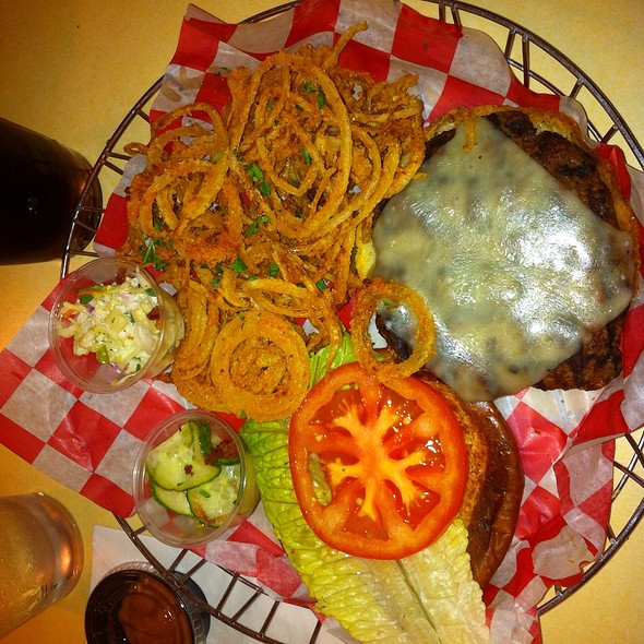Turkey Burger With Shoestring Onions