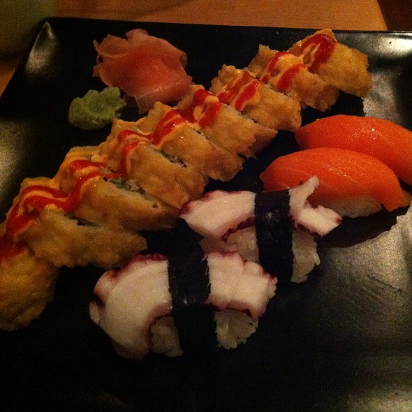 California Sun Roll With Octopus And Salmon Sushi