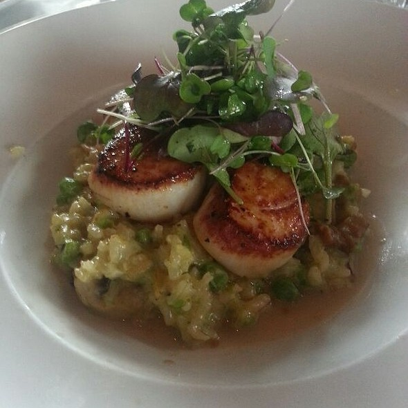 Seared Scallops On Pancetta Mushroom Risotto - Portland City Grill, Portland, OR