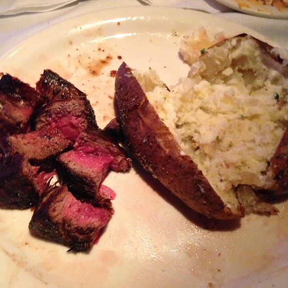 Filet And Salt And Pepper Baked Potato - Carson's Prime Steaks & Famous Barbecue - Deerfield, Deerfield, IL