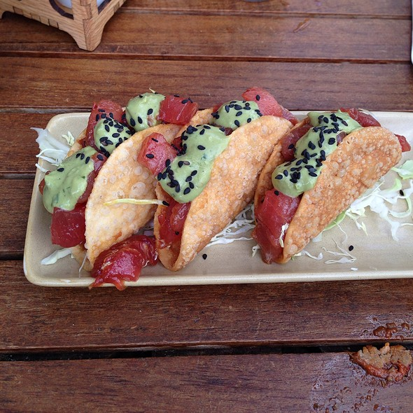 Poke Tacos With Avocado Cream @ Monkeypod Kitchen by Merriman