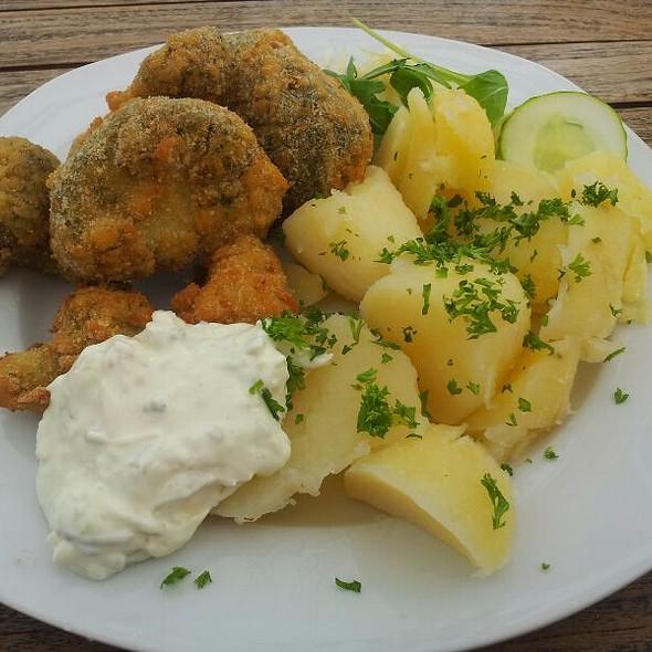 Fried Brocolli With Potatoes @ Restaurace Karla IV.