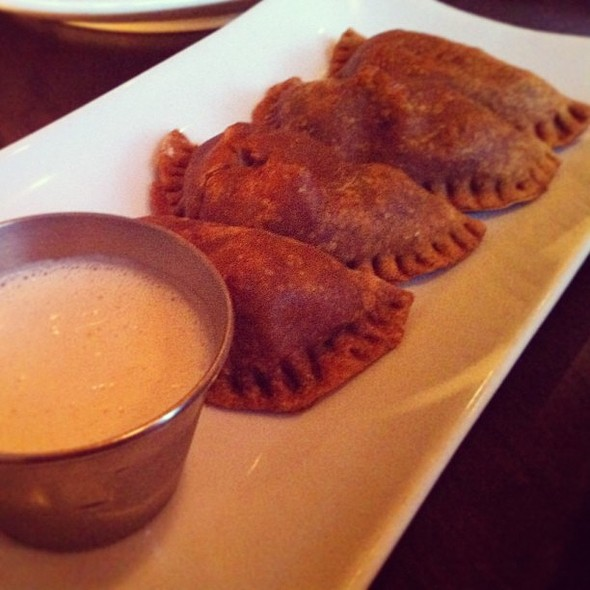 Sweet Corn Empanadas w/Margarita Cashew Crème @ Bliss Grand