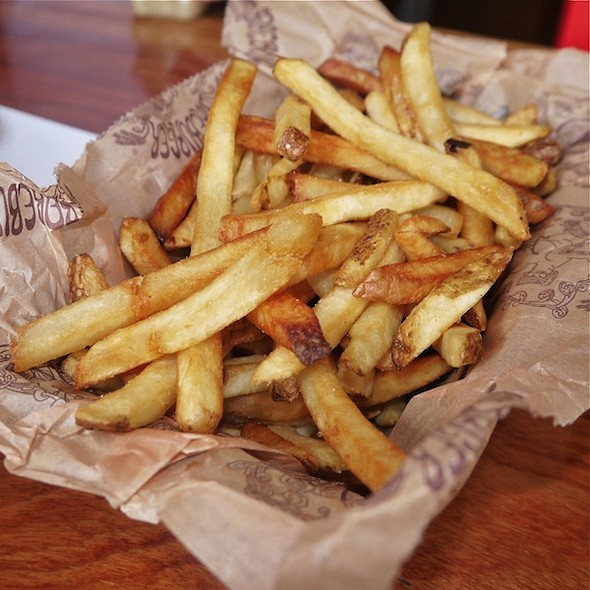 Fresh cut french fries @ Bareburger