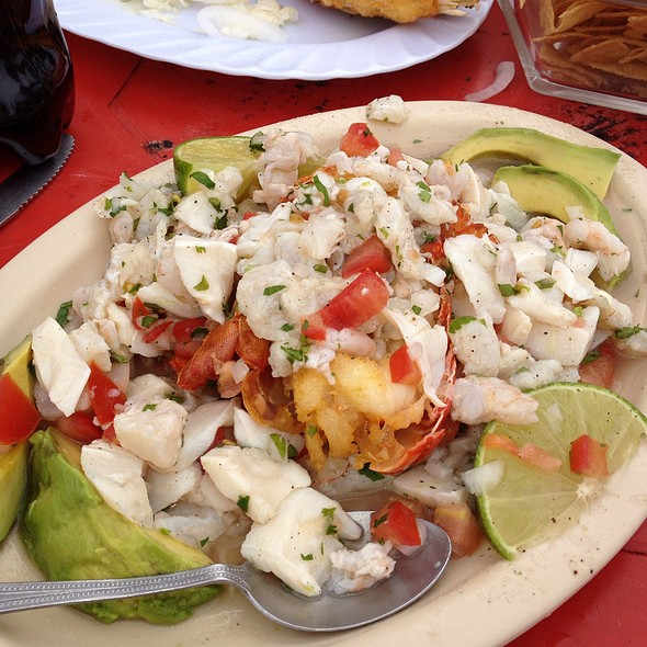 Shrimp, Scallop, And Fish Ceviche With A Grilled Lobster Tail at ...