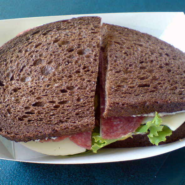 Salami & Cheese Sandwich @ Dittmer's Gourment Meats and Wurst-Haus