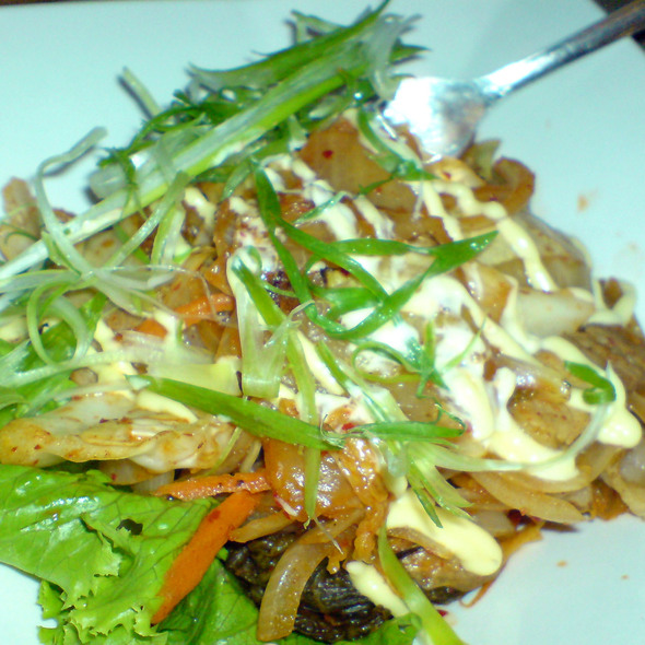 Stir fried kim chee and pork @ Dohatsuten