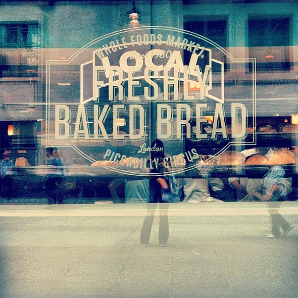 It's not even 10.30am yet and I'm sniffing out the fresh bread section - I'm such a bread head!  @ Whole Foods Market - Soho