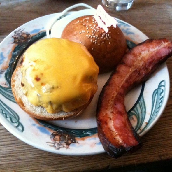 Cheeseburger, Side Of Bacon @ Peter Luger Steakhouse