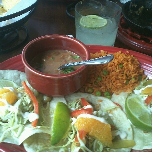 Puffy Tacos With Mexican Rice And Beans at Blanco's Mexican Restaurant