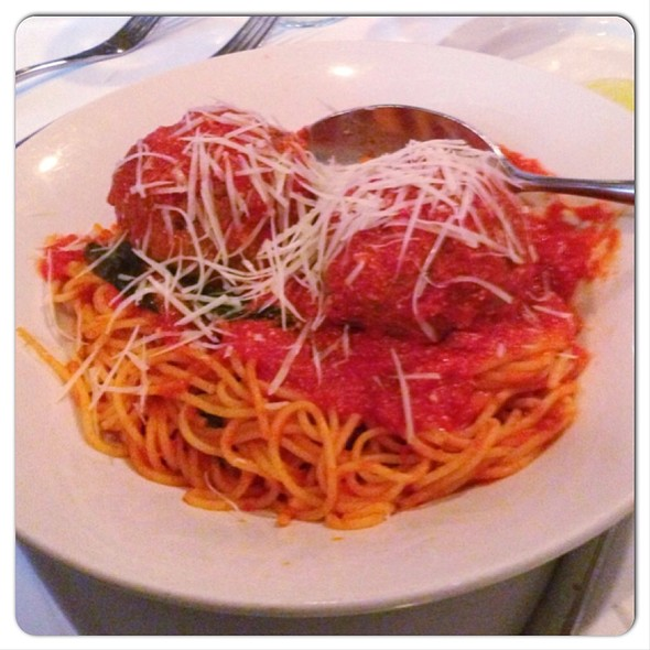 Spaghetti Meatballs - Rosebud on Rush, Chicago, IL