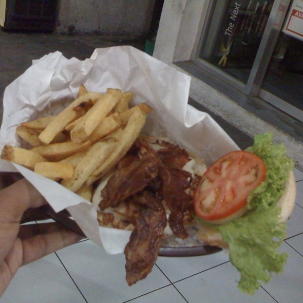 Spicy Chicken Burger With Bacon @ Charlie's Grind and Grill