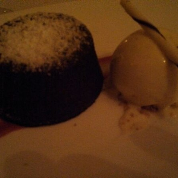 Chocolate Lava Cake with Dark Chocolate Ice Cream - Peter Shields Inn, Cape May, NJ