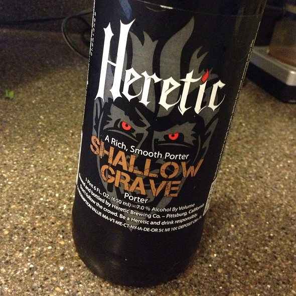 Shallow Grave Porter (Heretic Brewing Company) @ Home