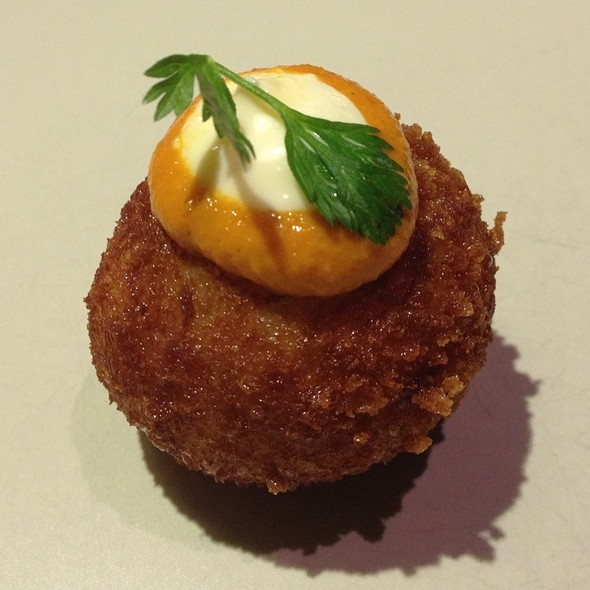 Sobrasada + Potato Bombas, Mojo Picon And Aioli @ Social Eating House and Bar