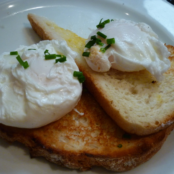 Poached eggs on toasts @ Leroy Espresso