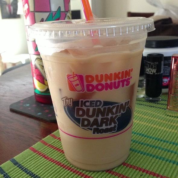 how to make dunkin donuts caramel mocha iced coffee