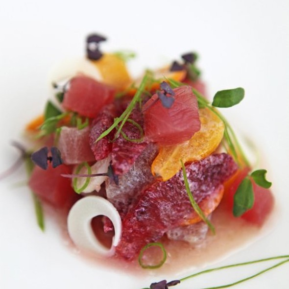 Blood Orange and Yellow Fin Tuna Ceviche  - Area 31 - Epic Hotel, Miami, FL