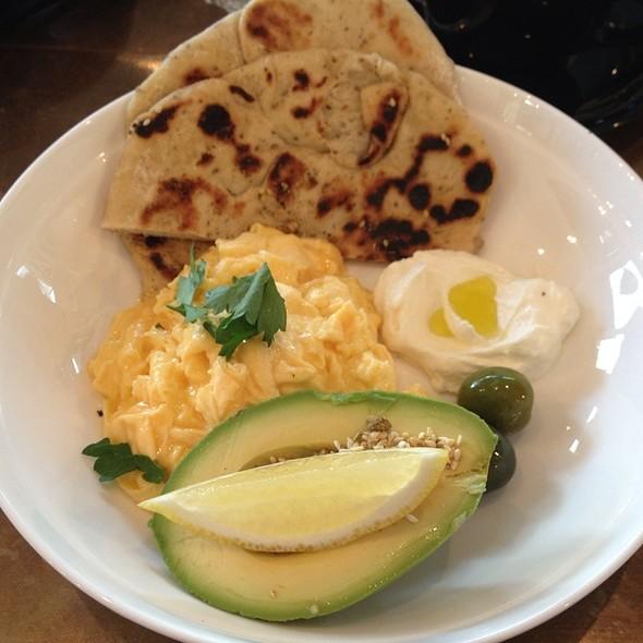 Za'atar Flat Bread   Scrambled Egg   Labneh   Green Olives @ Canteen Kitchen