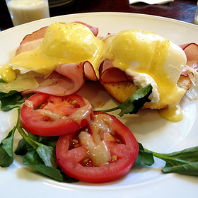 Shaved Ham & Manchego Eggs Benedict - South End Buttery, Boston, MA