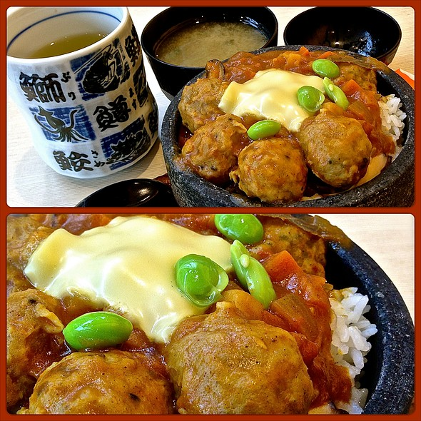 Ishiyaki Tsukune Cheese Curry Don