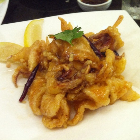 Fried Squid With Honey And Lemon
