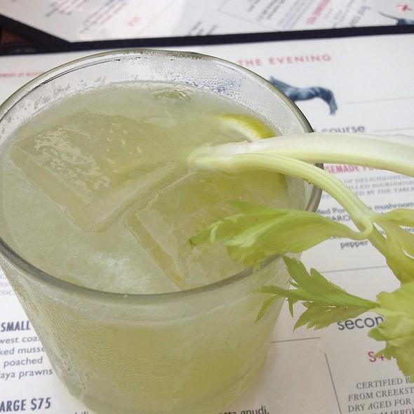Celery Gimlet Cocktail @ Saxon + Parole