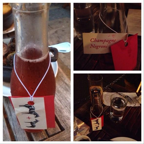 """""""Bottled"""" Champagne Negroni - Saxon + Parole, New York, NY"""