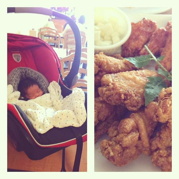 Fried with a side of . Starting our jr early by grabbing in-between doctor appointments. @ Chic N Fish