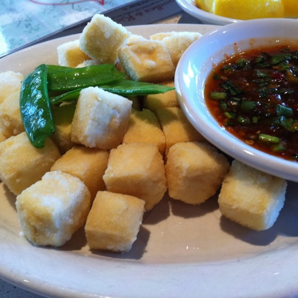 Crispy Tofu With Spicy Awesome Sauce @ Blue Koi