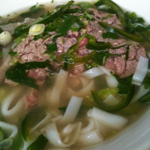 Rare Beef Pho @ Turtle Tower Restaurant