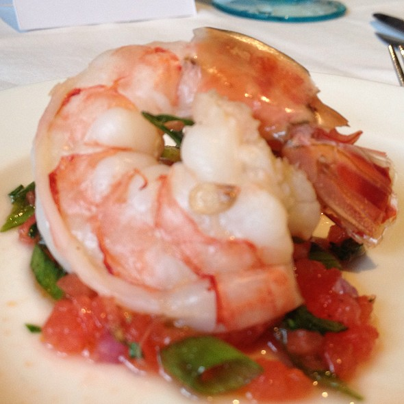 Poached Shrimp W/ Watermelon Salsa @ Fred's