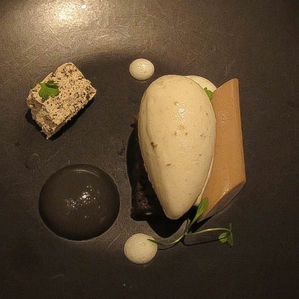 banana ice cream, burnt acorn, ginger @ Benu