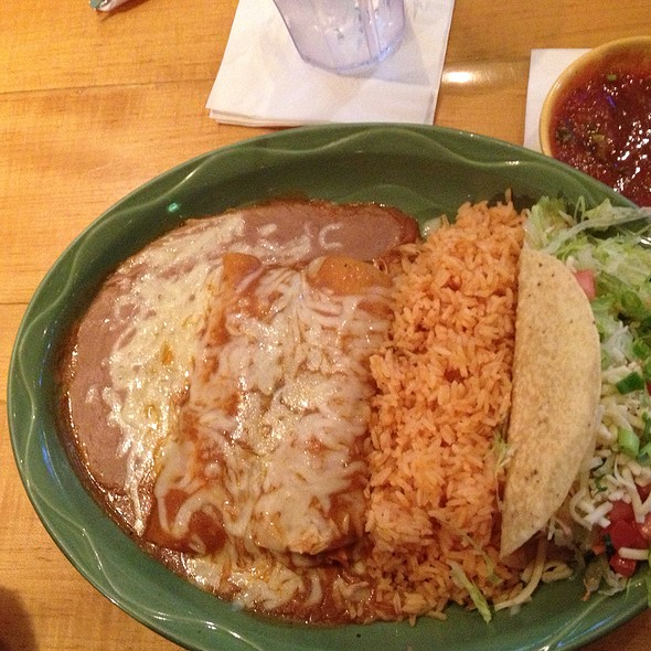 Two Enchiladas and Taco Plate