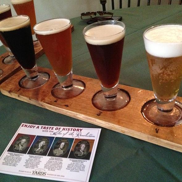 Colonial Ale Sampler  @ City Tavern