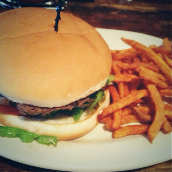 Burger With Sweet Potato Fries @ Shiloh Brew & Chew