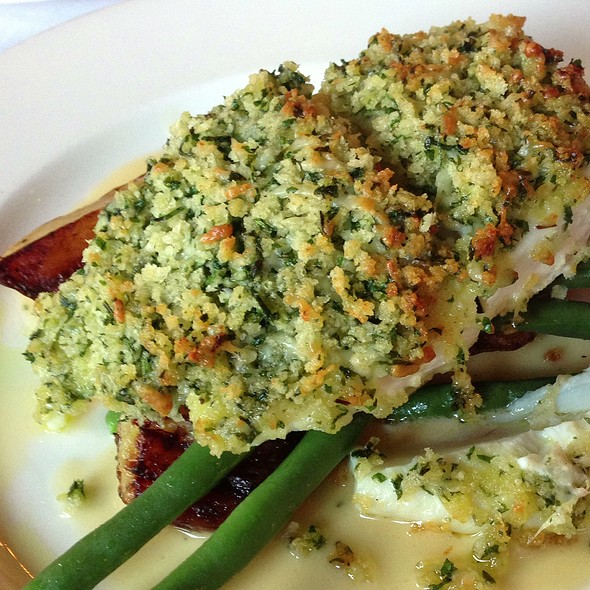 Herb Crusted Halibut @ Garage Bar And Grill