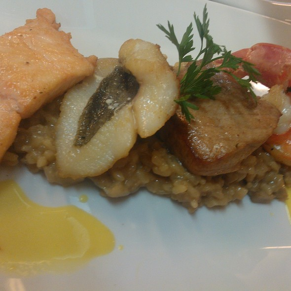 Mushroom Risotto with Seafood @ Restaurant Crystal