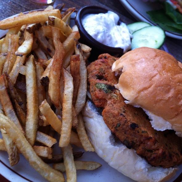 Salmon burger @ Emory