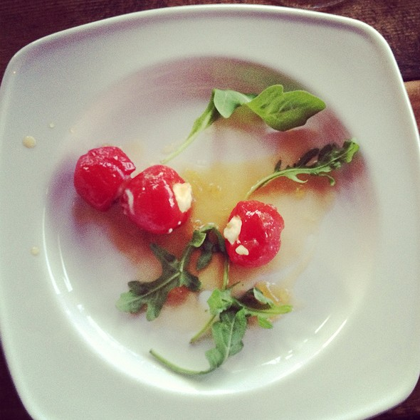 Goat Cheese Stuffed Peppadew @ Bistro La Bon