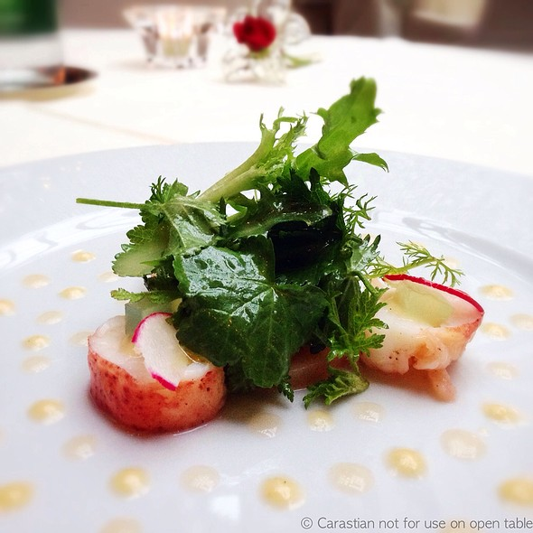 Lobster With Peach Vinaigrette & Yuzu Jelly @ Le Jardin de France