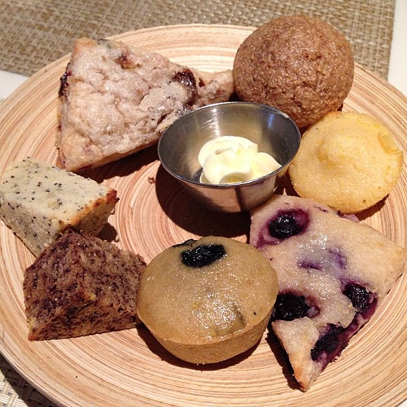 More compliments of @chefcharlieayers -- delicious, freshly baked breads! I loved the blueberry one best. @ Calafia Café & Market A-Go-Go