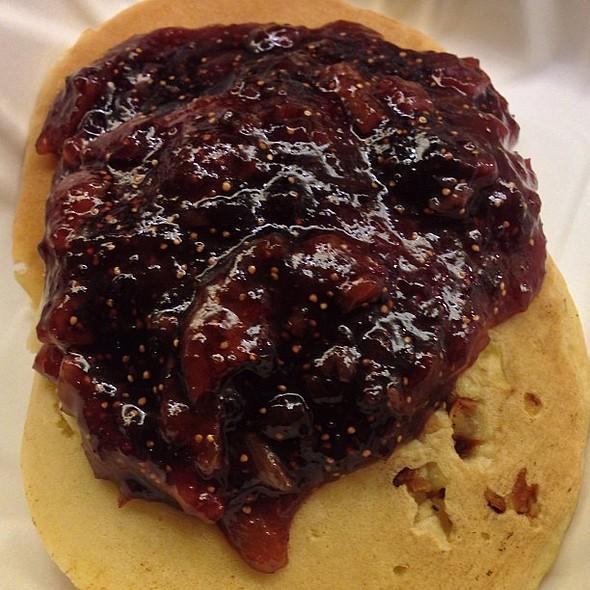 Whoa, amazing sweet & savory : potato pancake with warm fig & syrup! @ URL's Cafe at Yahoo!