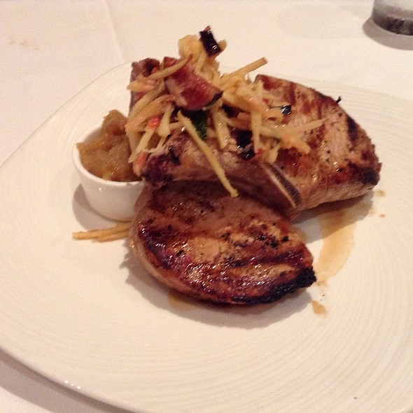 Double Cut Bone-In Pork Rib Chop @ The Palm Restaurant